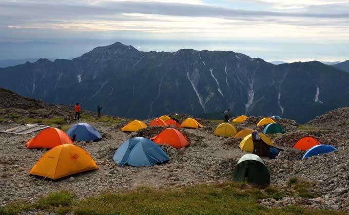 南岳小屋テント