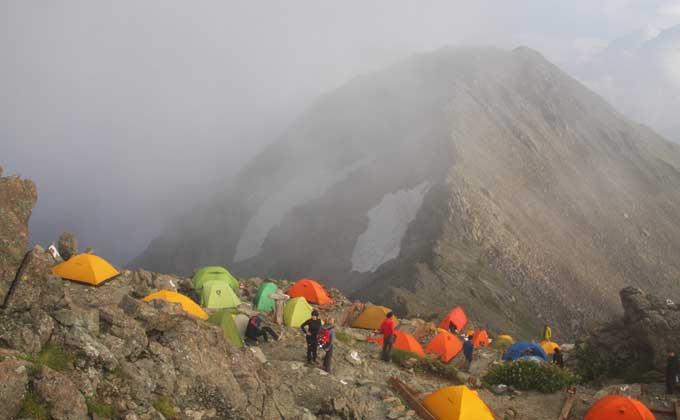 槍ヶ岳山荘テント